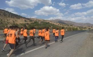 350 genç korucu olmak için spor mülakatına katıldı