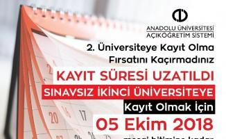 """Açıköğretim """"ikinci üniversite"""" kayıtları yoğun talep nedeniyle uzatıldı"""