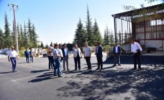 Başkan Can, asfalt çalışmalarını yerinde inceledi