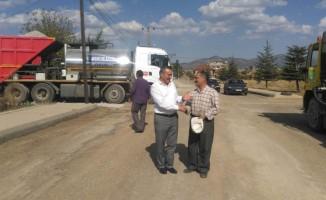 Başkan Tutal, asfalt çalışmalarını inceledi