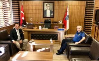 Bozüyük Belediye Başkanı Fatih Bakıcı, İl Emniyet Müdürü Ertuğrul Namal'ı ziyaret etti