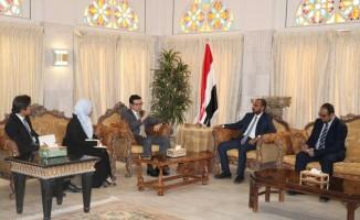 Büyükelçi Eler, Yemen Balıkçılık Bakanı Kefayin ile görüştü