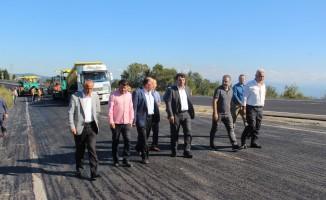 Çakır, Ereğli-Zonguldak yolu çalışmalarını inceledi