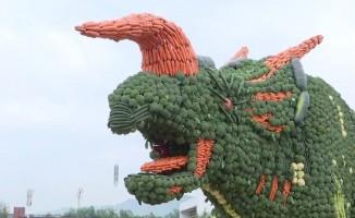 Çin'de dev sebze heykeli Guinness Rekorlar Kitabı'na girdi