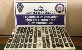 Elazığ'da 75 adet kaçak telefon ele geçirildi