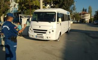 Jandarma'dan okul servisi denetimi