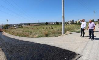 Manavgat'ta asfalt çalışması