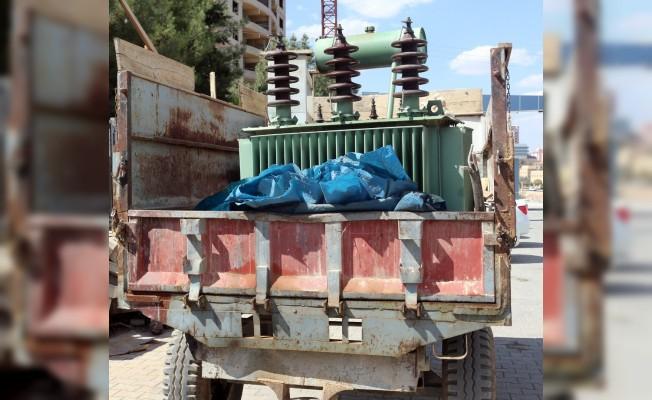 Mardin'de 9 ayda 550 kaçak elektrik trafosu tespit edildi