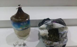 Mobil Park polisleri denetimler sırasında 2 şahsın üstünde 7.5 gram bonzai ele geçirdi