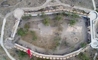 Nevşehir Kalesinde yapılan bilimsel kazı çalışması tamamlandı