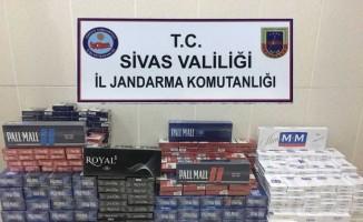 Sivas'ta 7 bin 530 paket kaçak sigara ele geçirildi