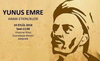 Yunus Emre Kırşehir ve Aksaray Valilikleri ortak programı ile anılacak