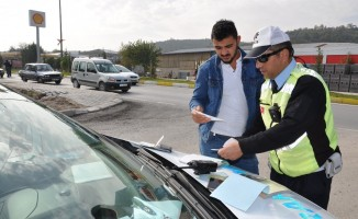 2 saatte 14 araca 5 bin 764 TL trafik cezası