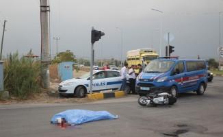 Alman turist motosiklet kazasında hayatını kaybetti