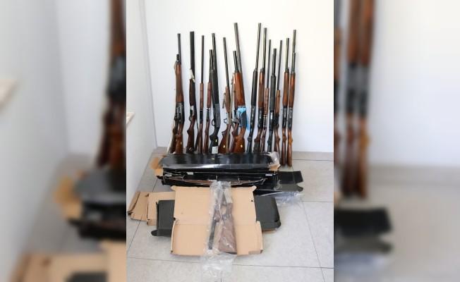 Antalya'da ruhsatsız av tüfeği ele geçirildi