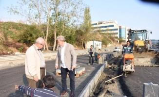 Başkan Albayrak, Güneş Sokak'ta incelemelerde bulundu
