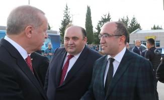Başkan Çöl, Cumhurbaşkanı Erdoğan'a projeleri hakkında bilgi verdi