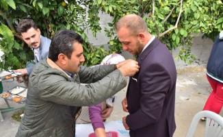 Başkan Uğurlu, Halilbeyli'de düğün yemeğine katıldı