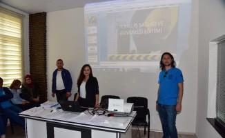 Belediye çalışanlarına İş Sağlığı ve Güvenliği eğitimi