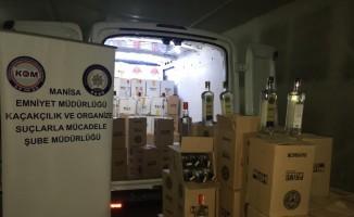 Binlerce kaçak içki ele geçirildi