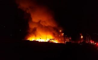 Bursa'da geri dönüşüm fabrikasında büyük yangın
