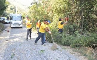 Büyükşehir Nazilli'de temizlik çalışmalarını sürdürüyor
