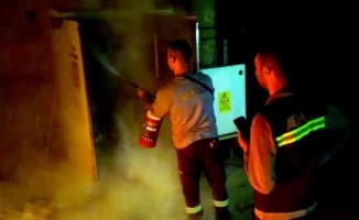 Dalyan'da trafo yangını