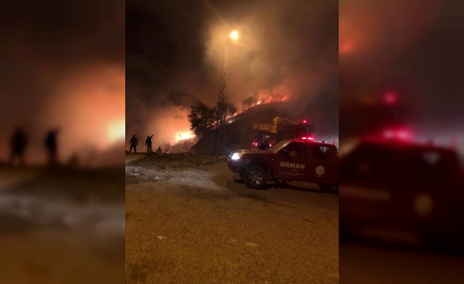 Hatay'da orman yangını : 1 hektar alan zarar gördü