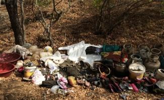 Hizan'da sığınak ve EYP malzemesi bulundu