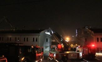 İETT'de garajında korkutan yangın
