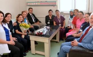 İl Sağlık Müdürü Bilge, palyatif bakım hastalarını ziyaret etti