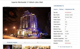 Isparta'nın tek 5 yıldızlı oteli internet üzerinden satışa çıkarıldı