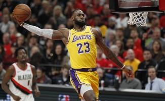 LeBron'lu Lakers, Portland deplasmanında mağlup