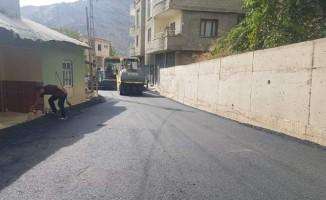 Şemdinli'de yollar asfaltlanıyor