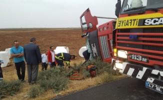 Sıkışan yolcuyu itfaiye ekipleri kurtardı