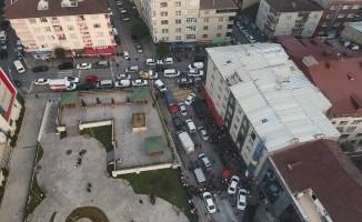 Suudi Arabistan Başkonsolosluğu'nun aracının bulunduğu otopark havadan görüntülendi