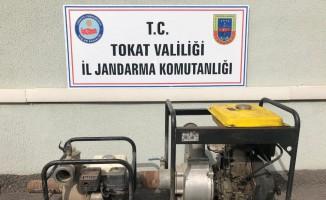 Tokat'ta su motorlarını çalan hırsız yakalandı