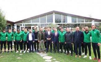 Vali Bilgin, Kırklarelispor futbolcuları ile kahvaltıda buluştu