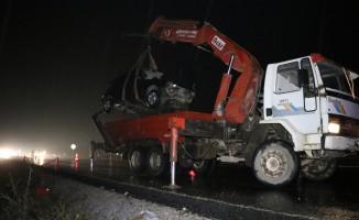 Denizli'de otomobil şarampole devrildi: 1 ölü, 5 yaralı