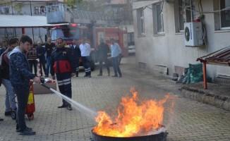 Emniyet personeline 'Yangına Müdahale' eğitimi