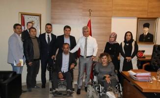 Engelliler Kaymakam Arıcan'ı ziyaret etti