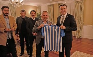 Erzurumspor yönetiminden Vali Okay Memiş'e ziyaret