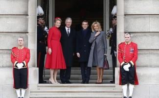 Fransa Cumhurbaşkanı Macron, Belçika'da