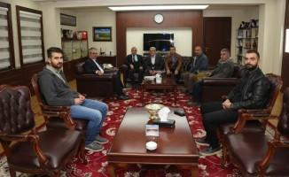 Gazetecilerden Vali Gündüzöz'e ziyaret