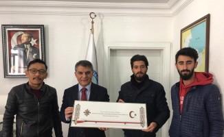 Kayı Okçuluk Spor Kulübü Derneğinden Kaymakam Özkan'a ziyaret