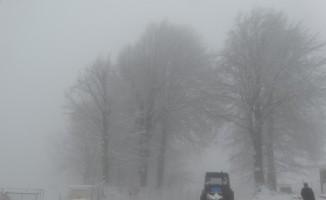 Kütahya Domaniç'te kar yağışı
