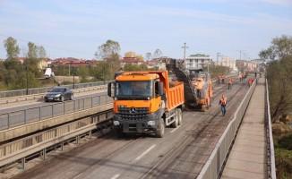 Melet Köprüsü asfaltlanıyor