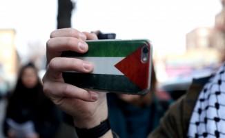New York'ta Gazze protestosu
