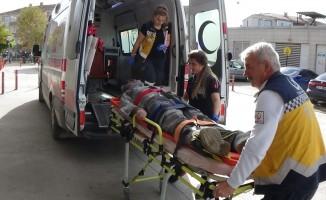 Okul inşaatından düşen usta yaralandı