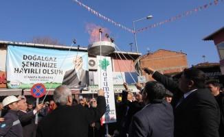 Osmancık'ta 5 bin abone'ye doğalgaz verildi